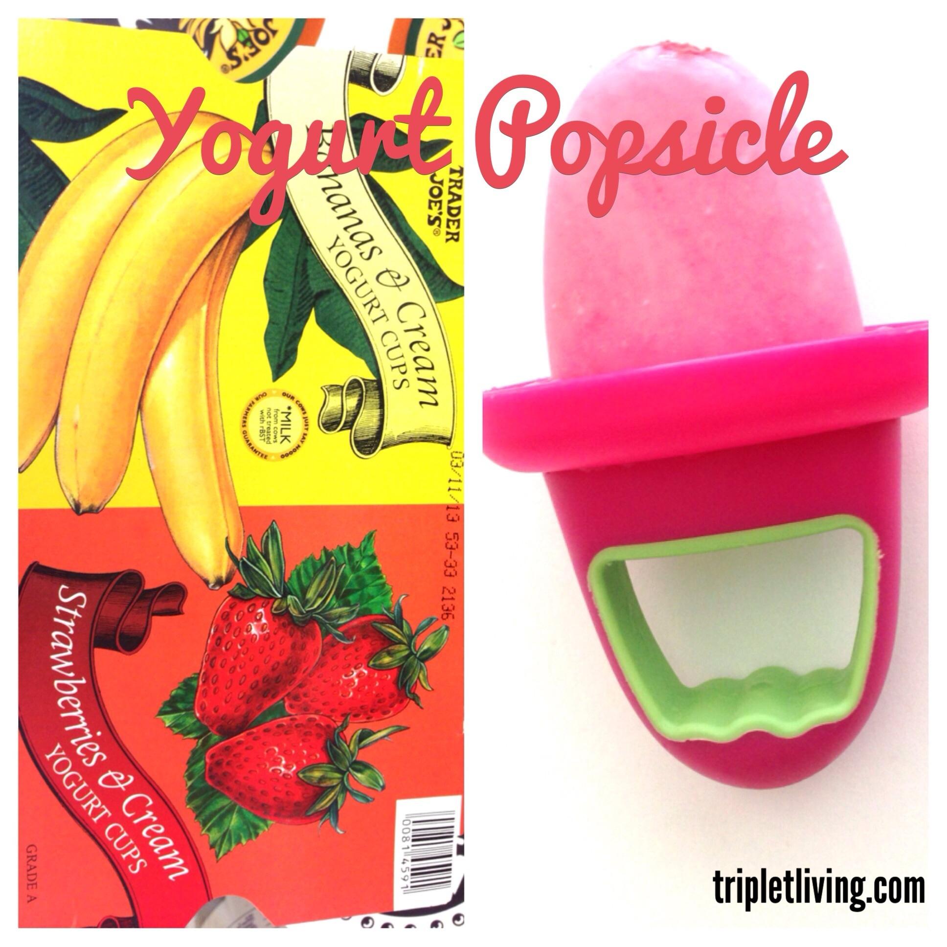 @tripletliving yogurt popsicles