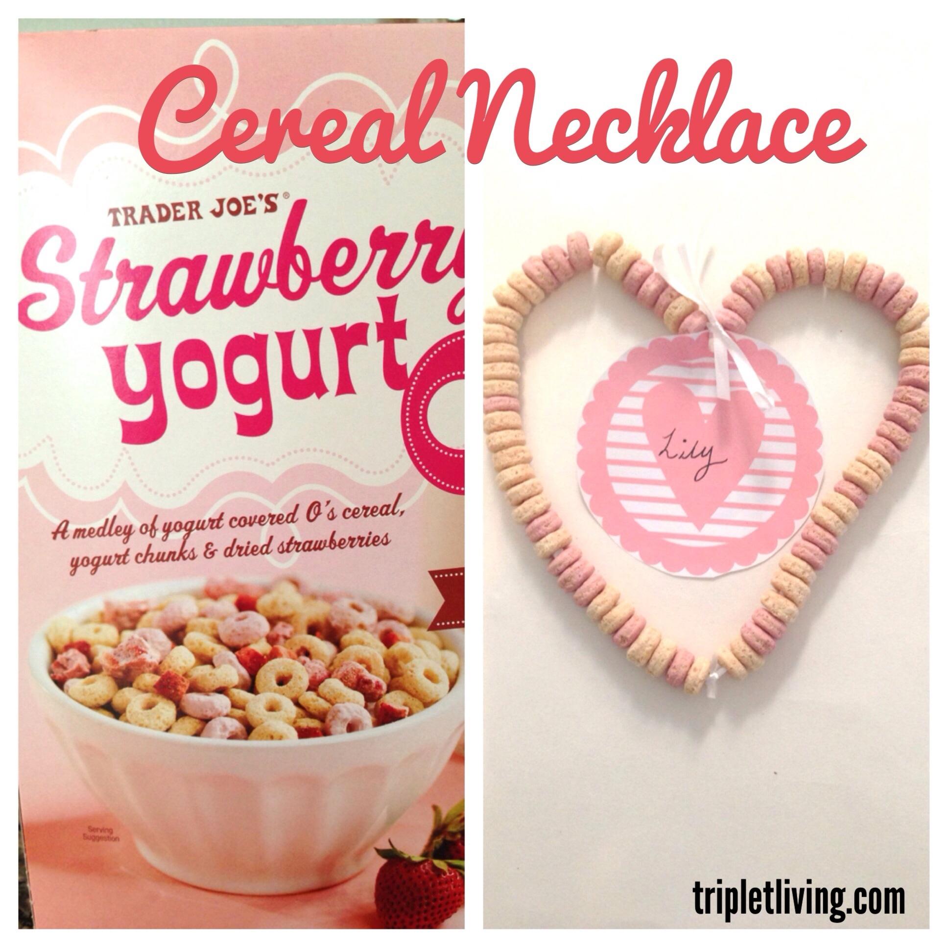 @tripletliving cereal necklace